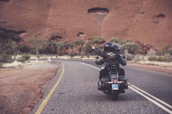 Harley met Uluru